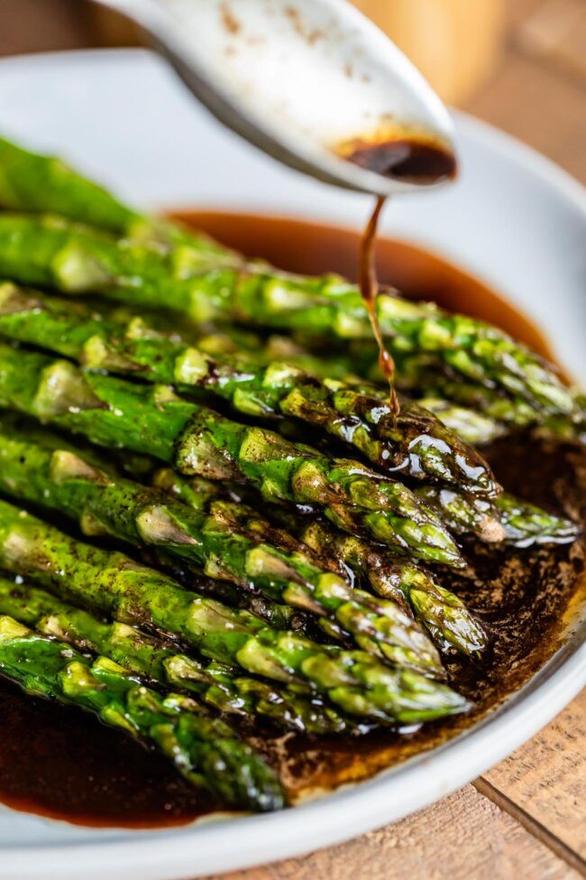 Oven Roasted Asparagus with Balsamic Browned Butter