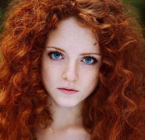 Olga Kozlova As Red Head Of The Day Most Beautiful Eyes