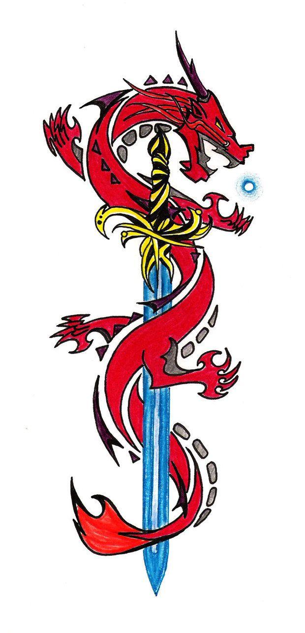 Dragon Tattoo Design By Dagan12 On Deviantart Dragon Tattoo Designs Dragon Tattoo Tribal Dragon Tattoos