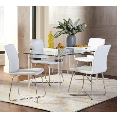 Coaster Michonne Contemporary Table and Chair Set - Coaster Fine Furniture