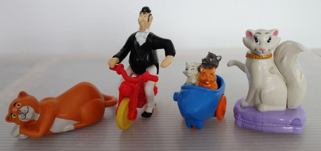 Komplett Disney Aristocats aus dem Mc Donald's Happy Meal in
