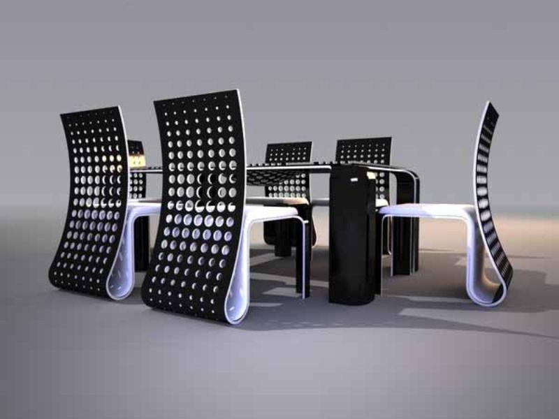 Agudos ultra lujo futurista juego de comedor mesas con mejores ...