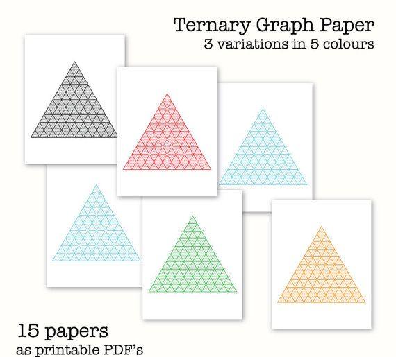 15 Ternary Graph Papers - Triangular Graph Paper - Digital Graph
