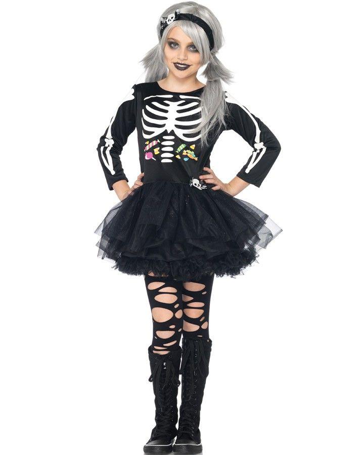 de2fafee8f3d4 Scary Skeleton Girls Costume