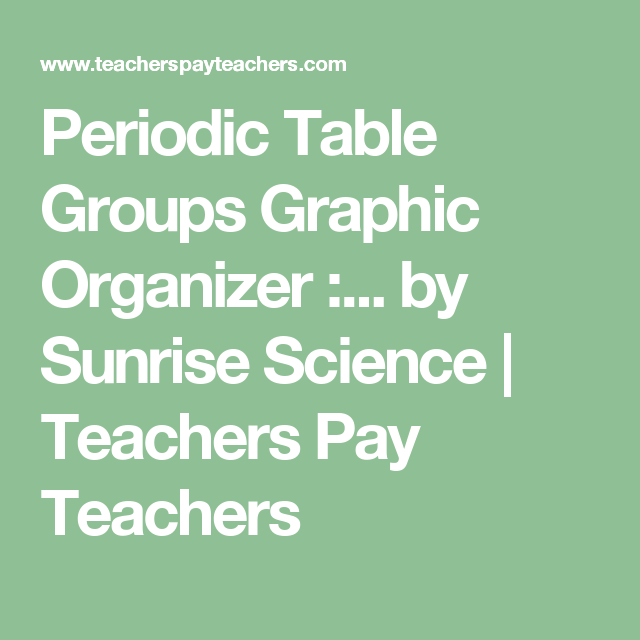 periodic table groups graphic organizer periodic personalities
