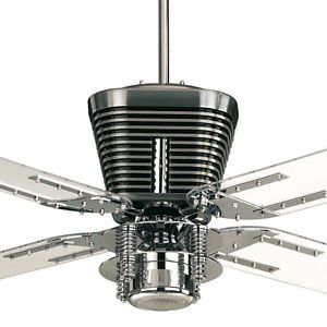 Quorum harley ceiling fan 52 chrome with light retro collection mozeypictures Gallery