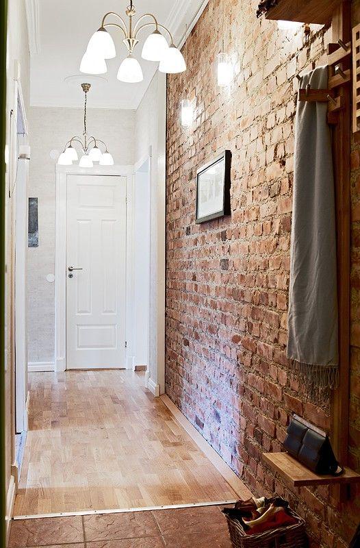 White Door Brick Interior Red Brick Wallpaper Exposed Brick Walls