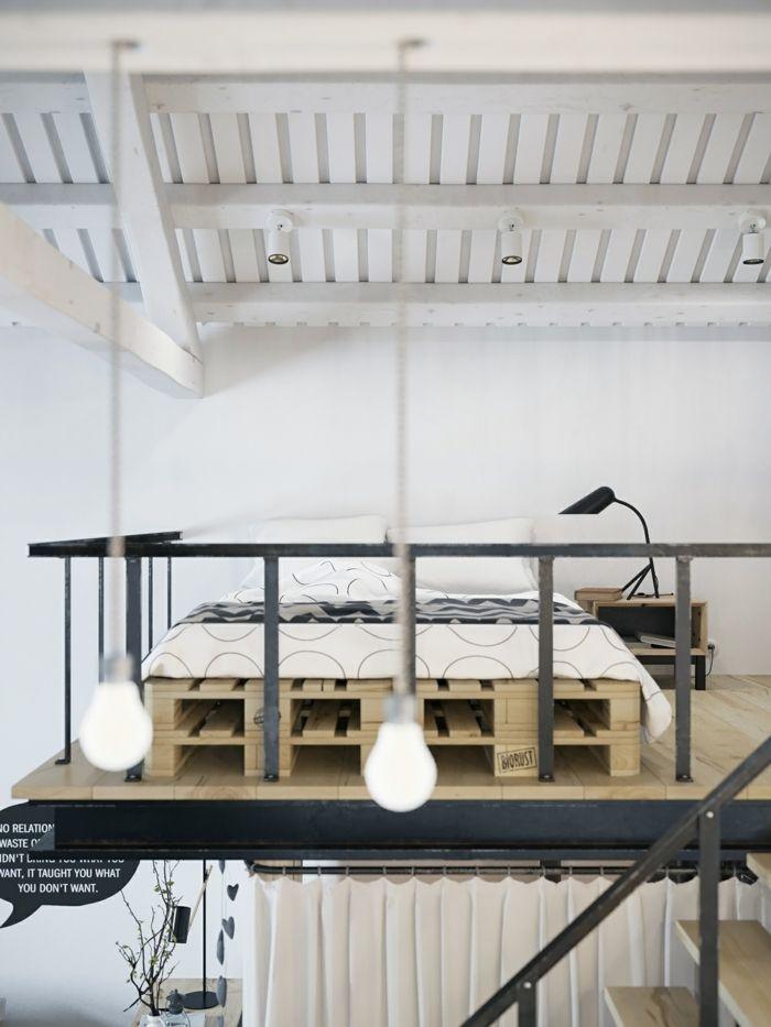 Noch 64 Schlafzimmer Ideen für Möbel aus Paletten | Pinterest ...