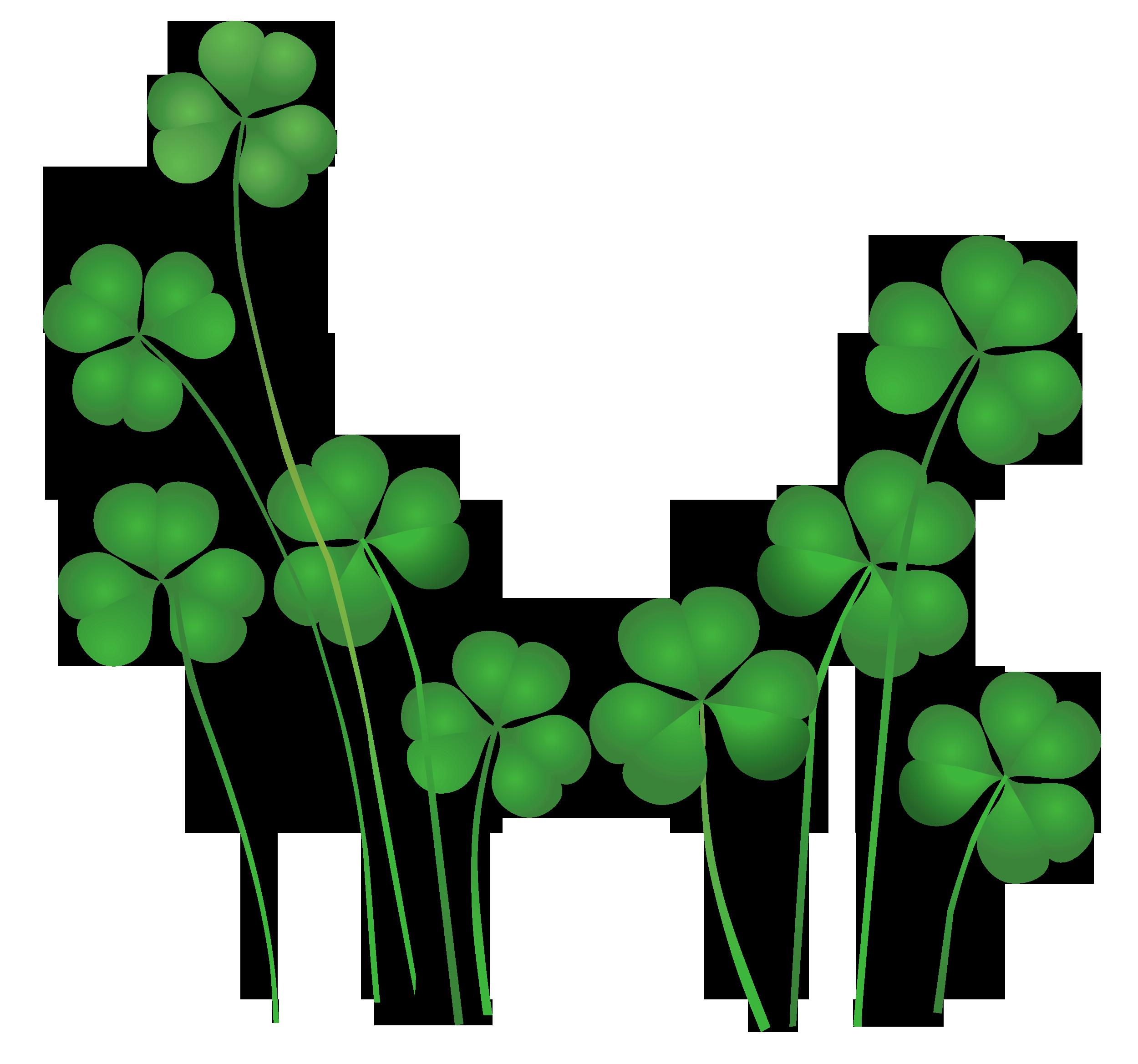 St Patricks Day Shamrocks Decor PNG Clipart | St Patrick\'s day ...
