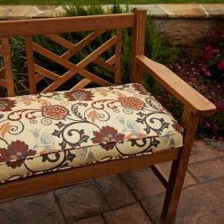 Clara Beige/ Rust/ Grey Indoor/outdoor Sunbrella Fabric 48 Inch Bench  Cushion