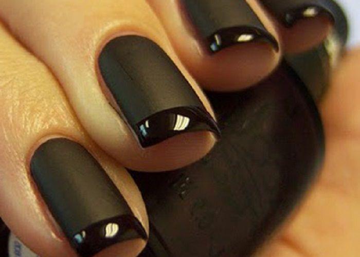 Pics For > Matte Black Nail Polish Opi | nails | Pinterest | Plastic ...