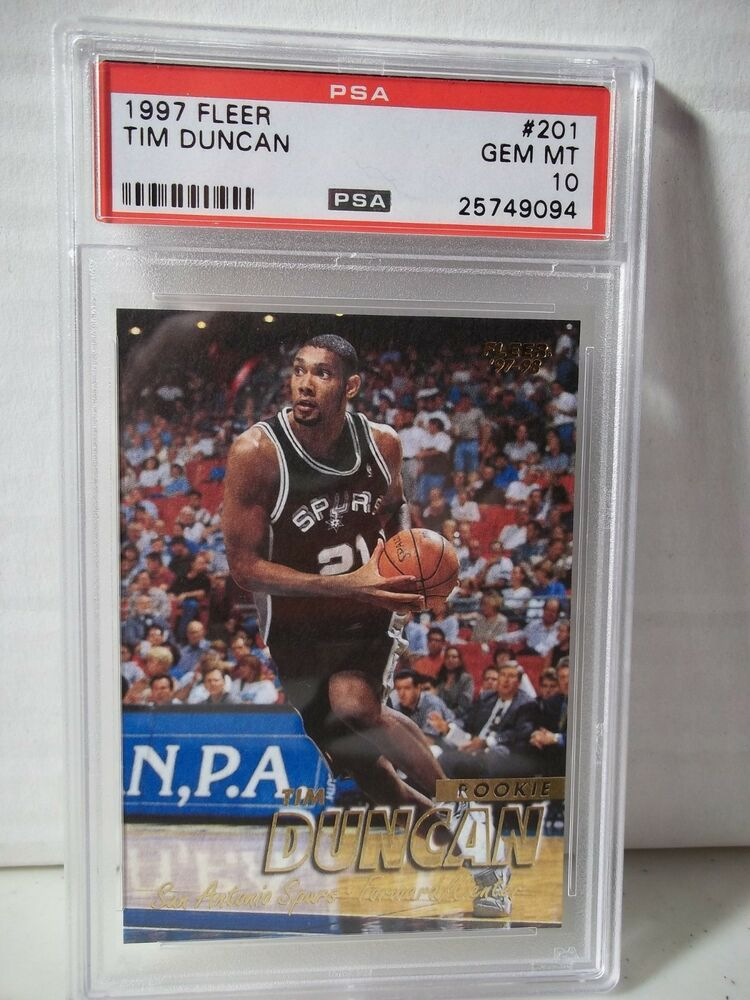 1997 Fleer Tim Duncan Rc Psa Gem Mint 10 Basketball Card
