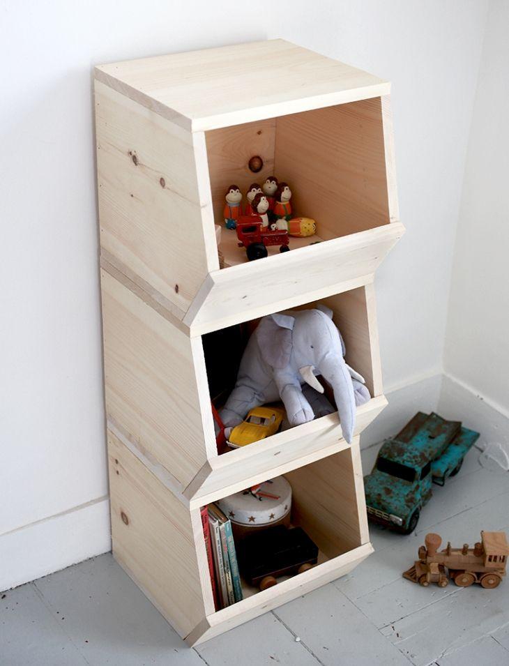 DIY Spielzeugaufbewahrung zum Stapeln
