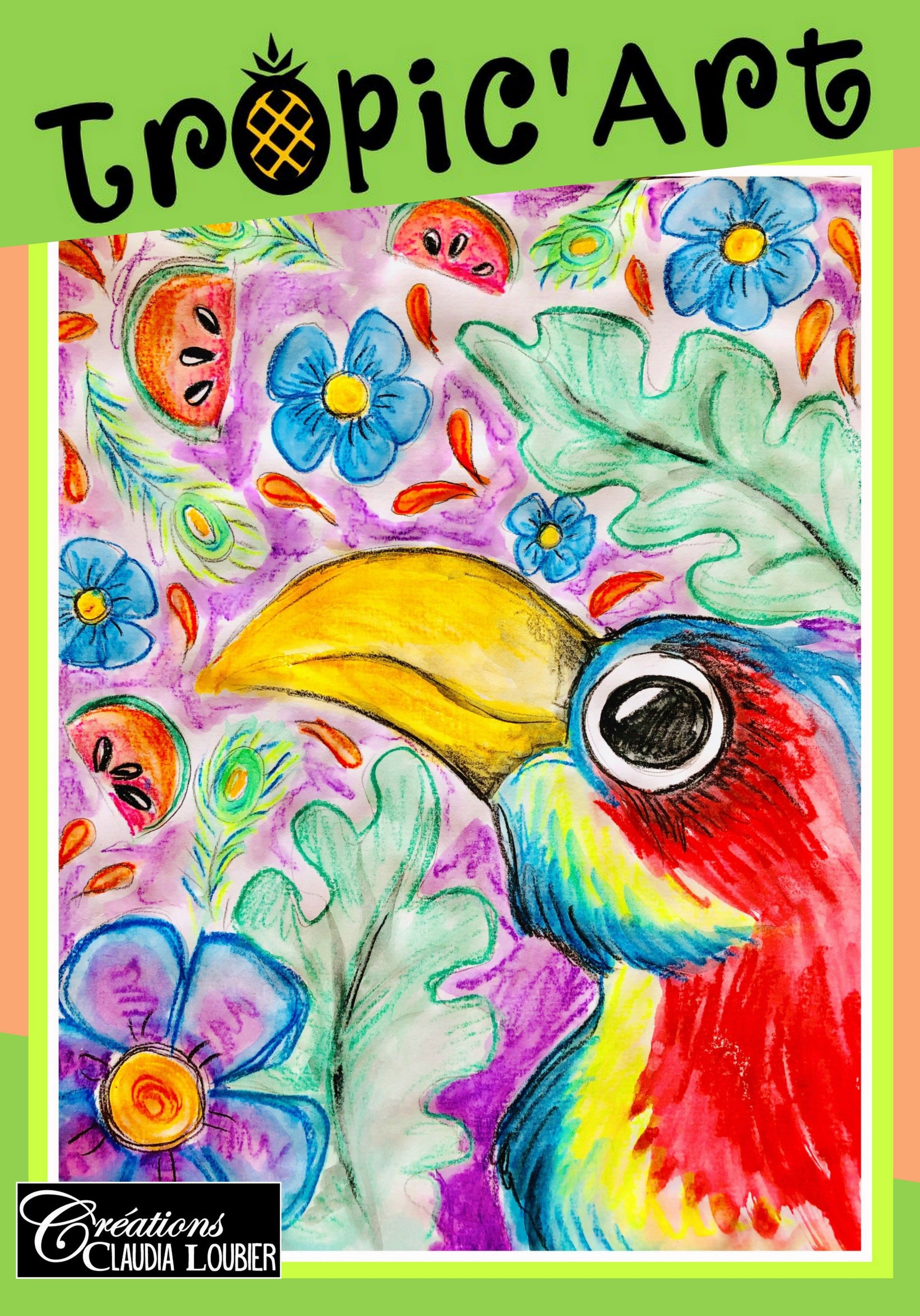 Tropic Art Projet Arts Plastiques Tropical Aquarelle Art