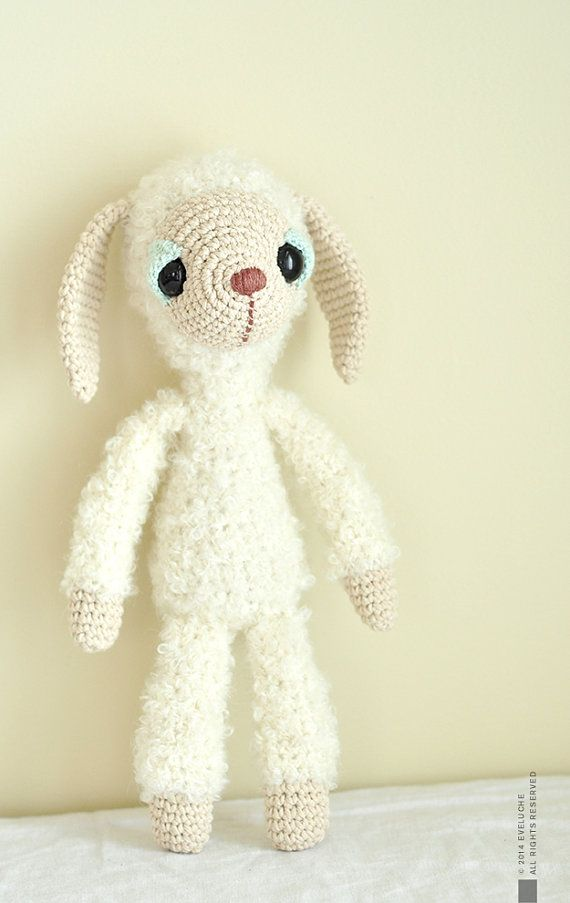 Abbie the Goat Crocheted Plushie Stuffed Toy от eveluche