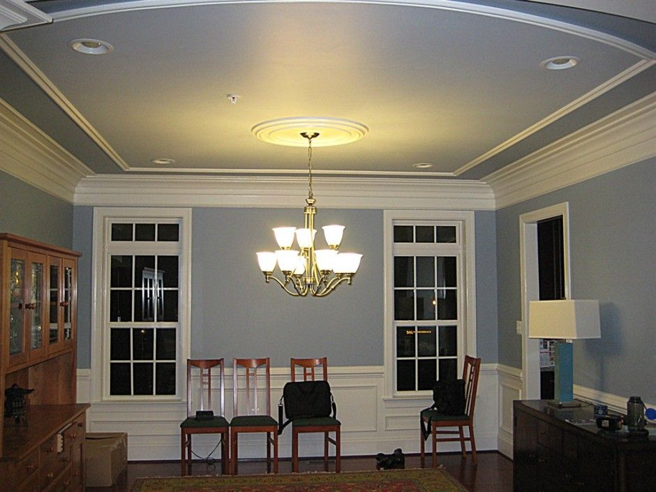 Decorating, Modern Tray Ceiling Design Ideas : Gorgeous Multilevel ...  Colonial tray ceiling