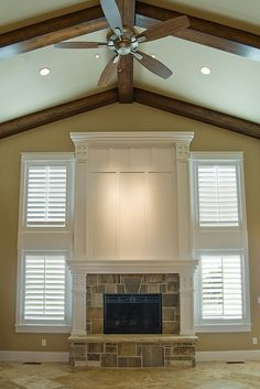 Fireplace Mantels With Windows On Each Side And Window Seats Or Doors Google Search