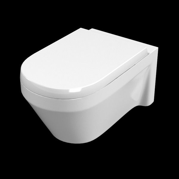 Bon Wall Mounted Water Closet Allows Easy Cleaning For The Floor Of The Bathroom