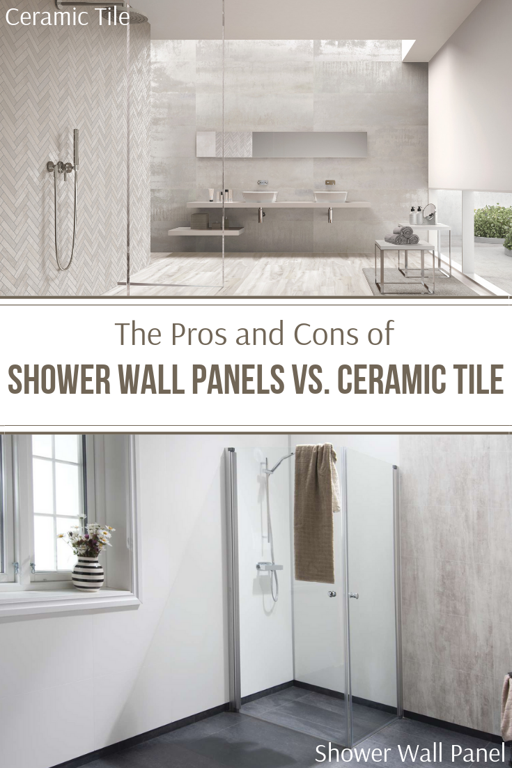 The Pros And Cons Of Shower Wall Panels Vs Ceramic Tile In 2020 Bathroom Shower Walls Shower Wall Panels Shower Wall