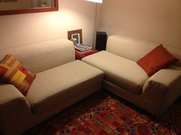 Custom Ikea Kramfors Slipcovers By Comfort Works Kino Fabric Pet Friendly Slipcovers In Real Homes Before After Fo Replacement Sofa Sofa Covers Sofa #pet #friendly #living #room #furniture