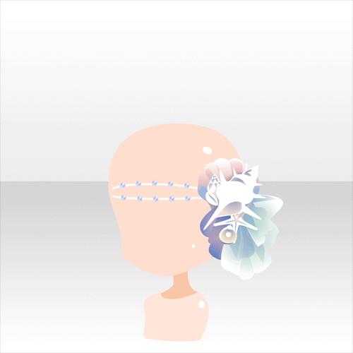 アクセサリ/バンダナ系 貝殻の髪飾り ブルー