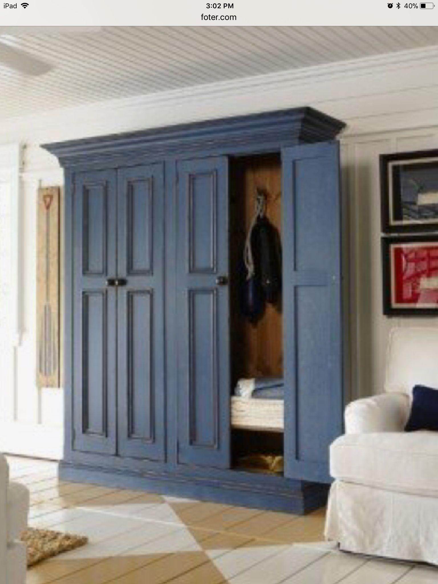 Entry hallway storage ideas  Closet and storage idea Need  Farmhouse style  Pinterest