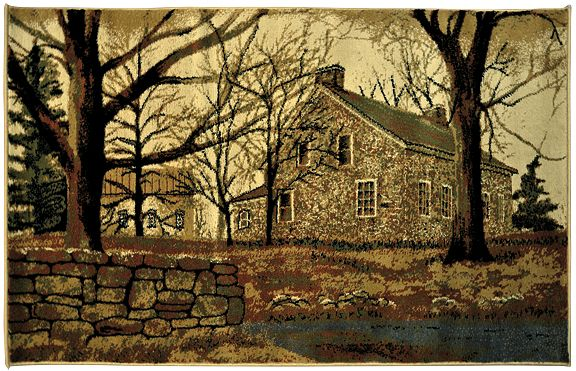 Old Stone House Rug Kruenpeeper Creek Country Gifts Billy Jacobs Art Old Stone Houses Billy Jacobs Prints