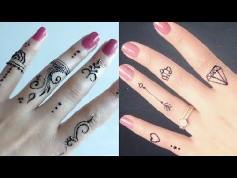 ابسط نقش الحناء للاصابع Youtube Henna Hand Tattoo Hand Henna Hand Tattoos
