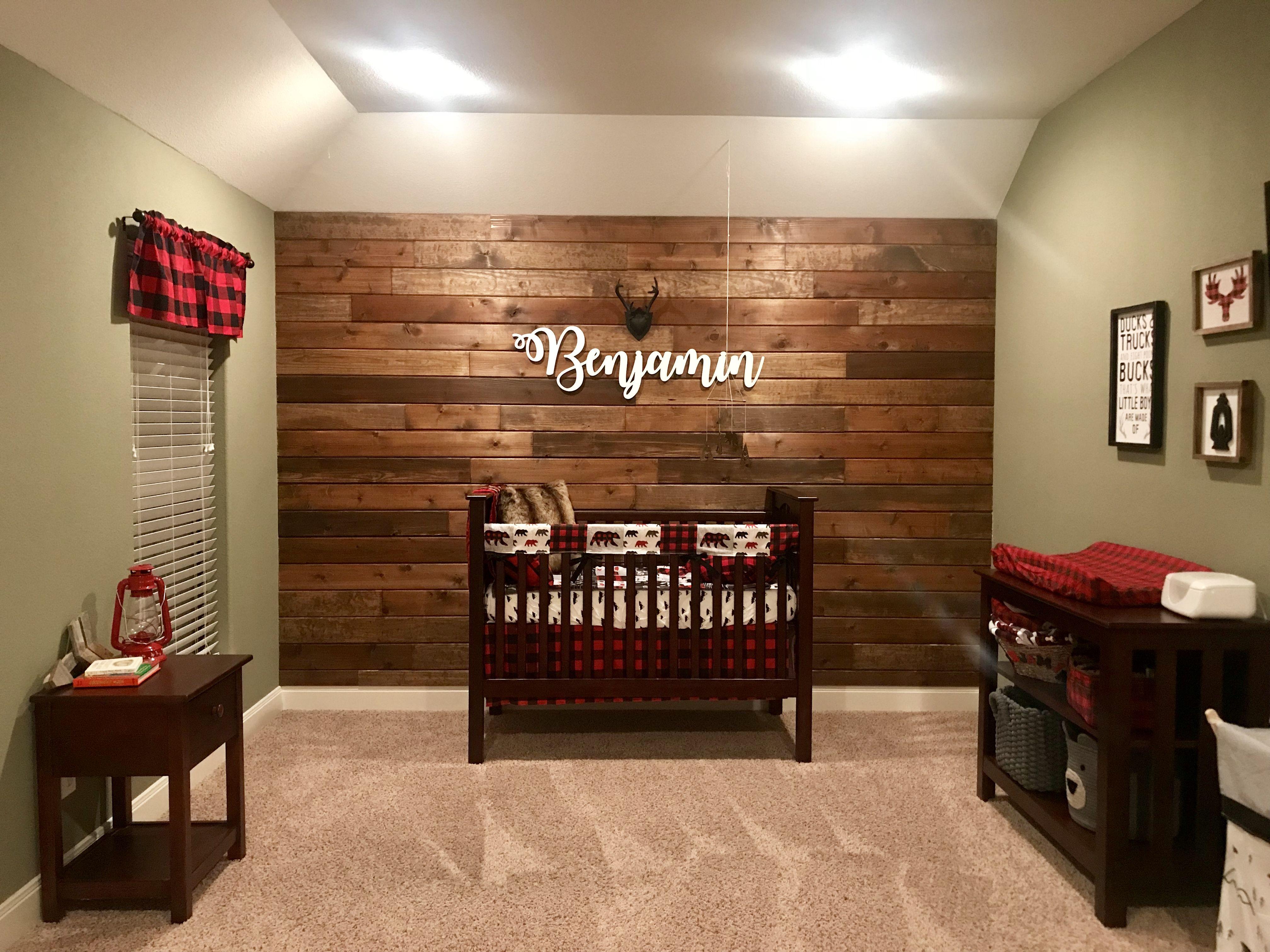 Lumberjack Woodlands Nursery Baby Boy Room Girl Decor