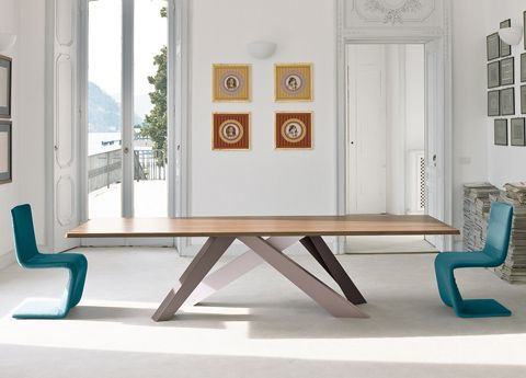Bonaldo Big Table By The Belgian Designer Alain Gilles Is A Large,  Functional Table Which Although Created In Traditional Materials Like  Steel, ...