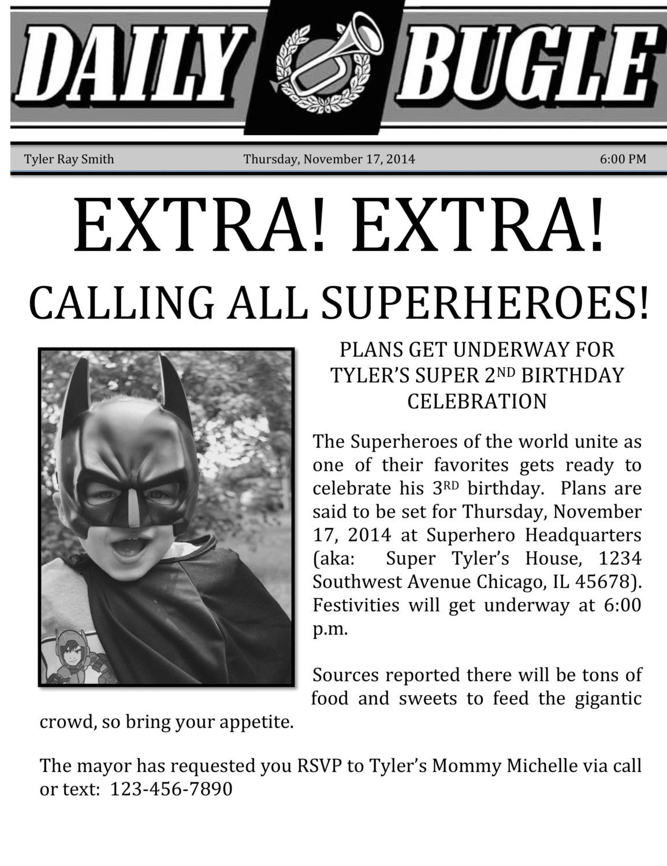 Superhero Birthday Invitation by romanandjuliet on Etsy | Roman and ...