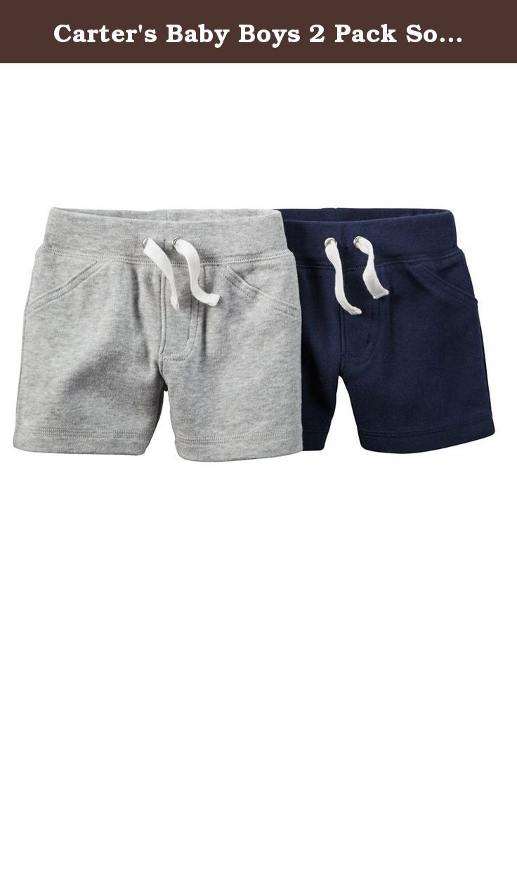 3m Navy Carters Boys Flat-Front Striped Shorts