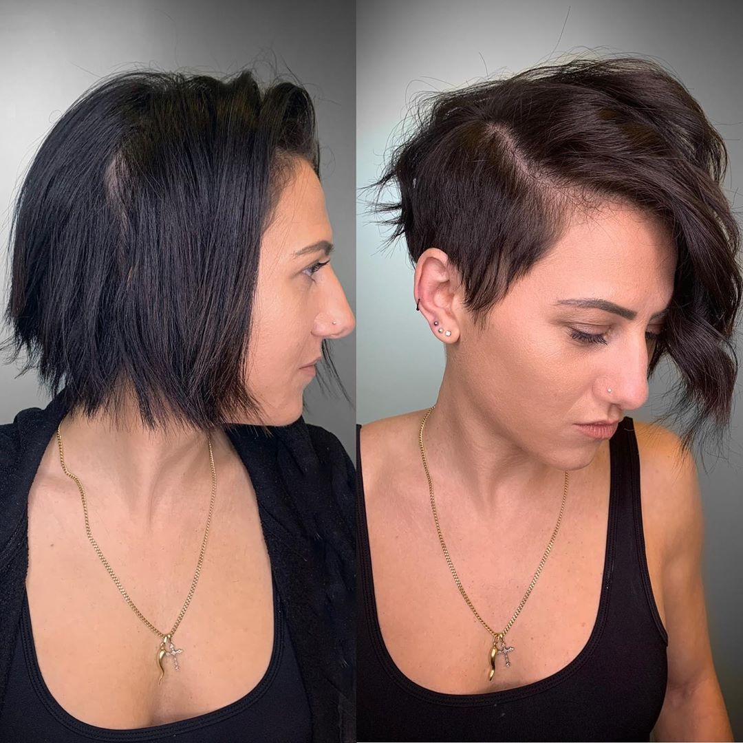 Courtney On Instagram This Haircut Makeover Is Giving Me Life Keeping The Top Front Len In 2020 Short Hairstyle Gallery Short Hair Styles Short Hairstyles For Women
