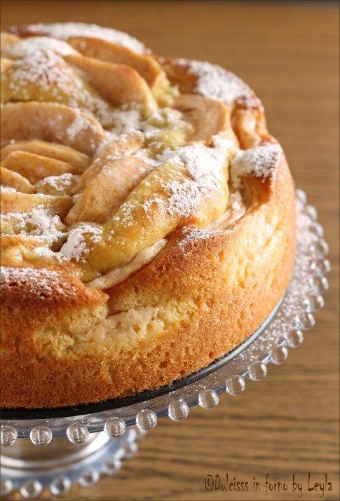 Torta di mele e crema pasticcera o Torta di mele cremoso o Torta nua alle mele:
