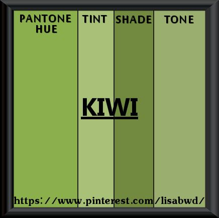Pantone Seasonal Color Swatch Kiwi
