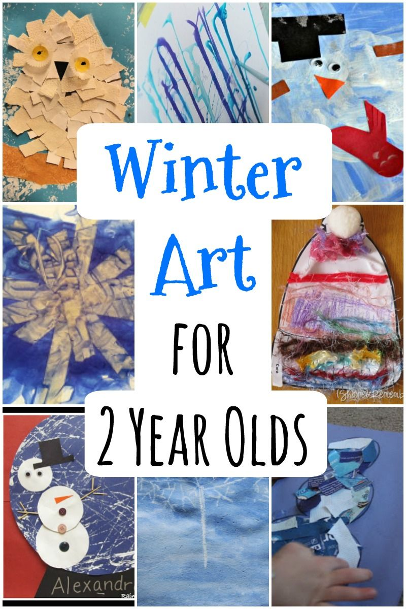 Winter Art for Toddlers #creativeartsfor2-3yearolds
