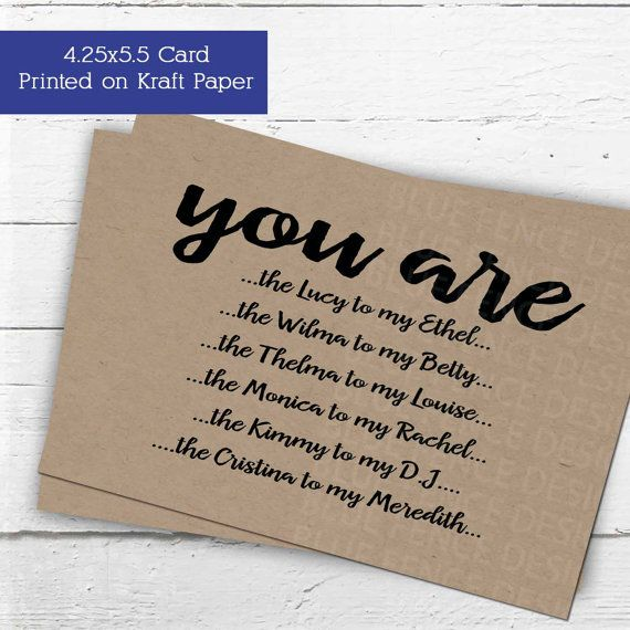 Will You Be My Maid Of Honor Card? Or Matron Of Honor? Or