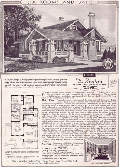 Avalon - 1923 Sears Kit Houses - California Bungalow - Small ... on elite home designs, wright home designs, linear home designs, napa home designs,