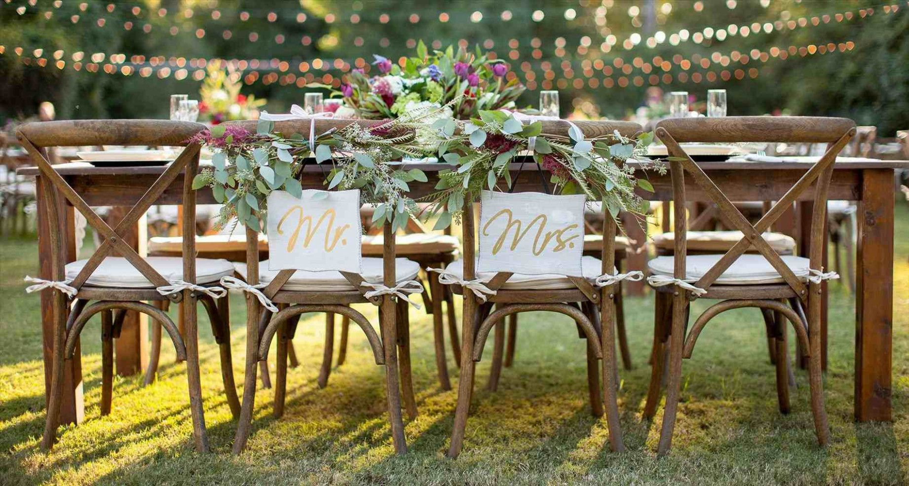 Wedding Party Garden Head Tables With Images Wedding Chair Decorations Outdoor Farmhouse Table Wedding Chairs