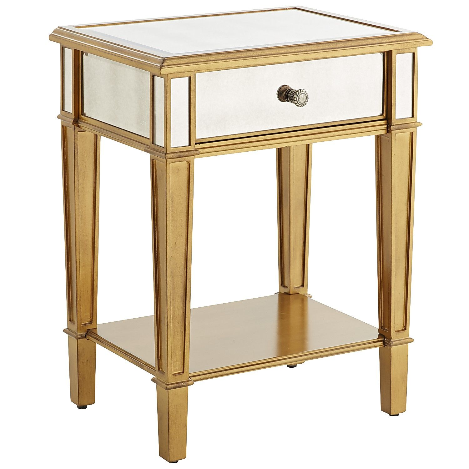 Hayworth Furniture Collection. Hayworth Nightstand   Gold Wood Furniture  Collection E