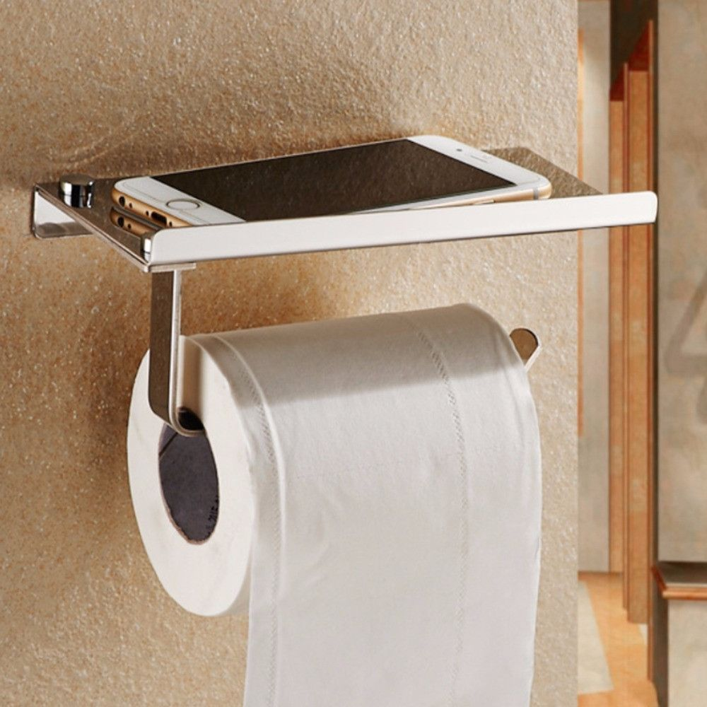 2017 Drawbench Stainless Steel Wall Mount Toilet Paper Storage Rack