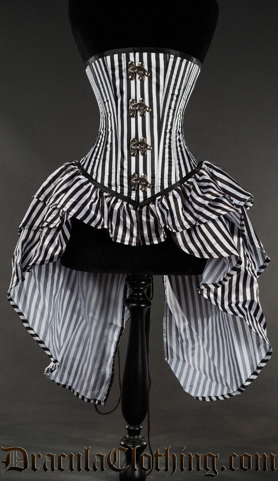 3993dc4159 Striped Bustle Clasp Corset