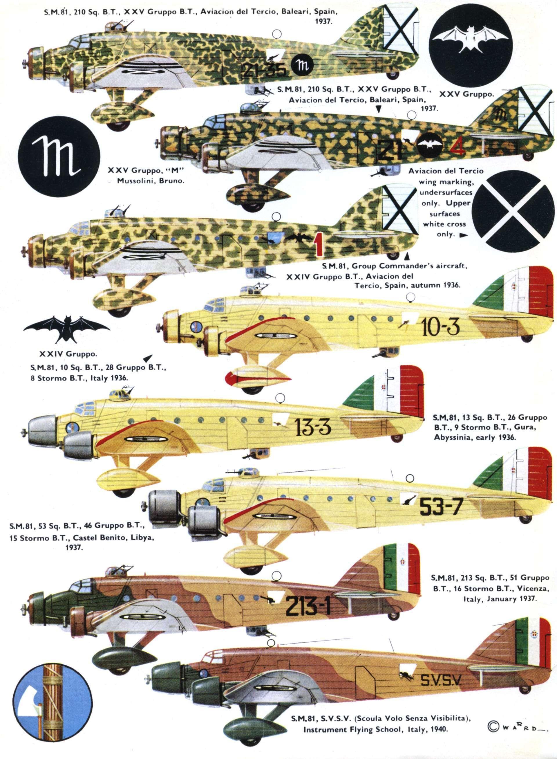 savoia marchetti sm 81 pipistrello aerei della seconda guerra mondiale aircraft of world war. Black Bedroom Furniture Sets. Home Design Ideas
