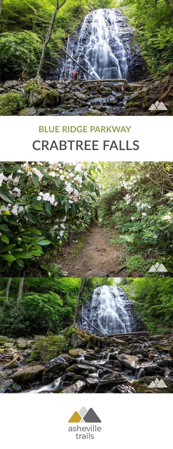 Crabtree Falls on the Blue Ridge Parkway - Asheville Trails
