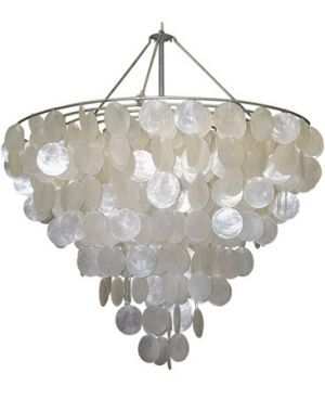 Delightful Mother Of Pearl   Serena Chandelier