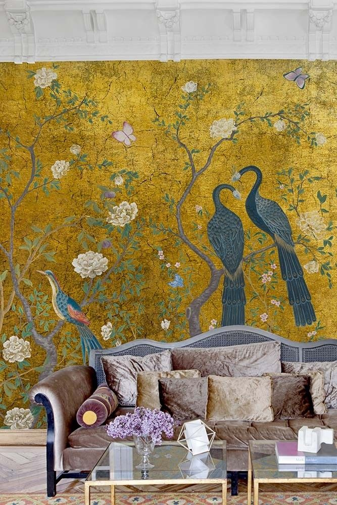 Edo Mural Design Wallpaper Panel - Gold from Rockett St George ...