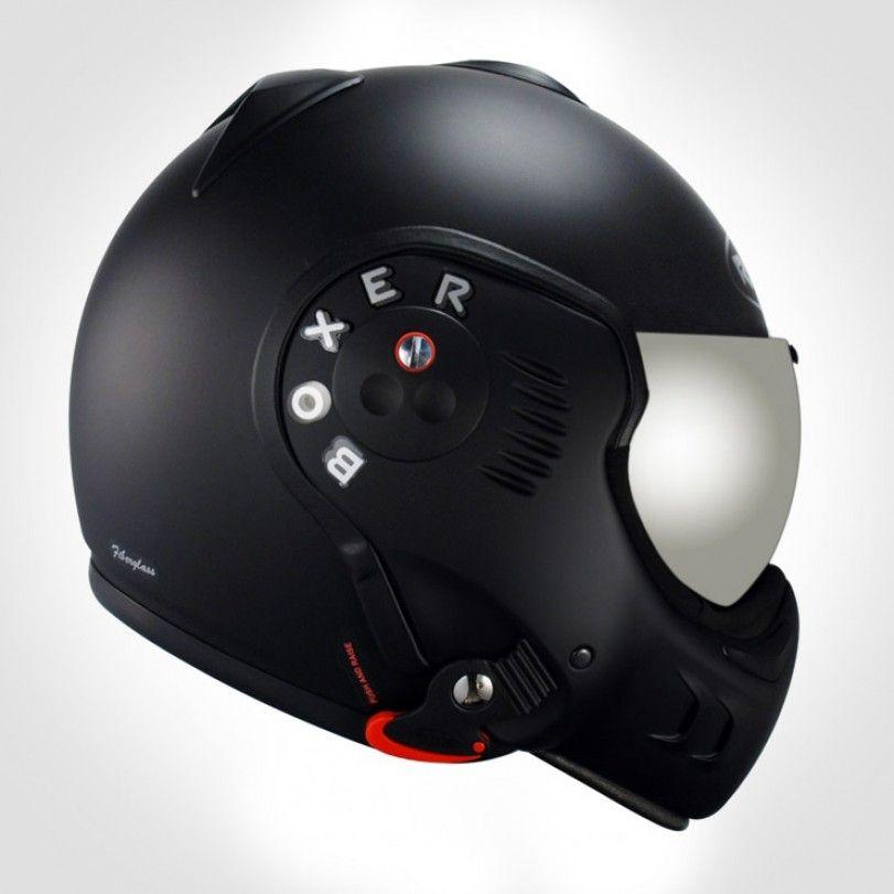 Roof Boxer V8 Black Shadow Urban Rider London Cool Motorcycle Helmets Motorcycle Helmets Helmet Design