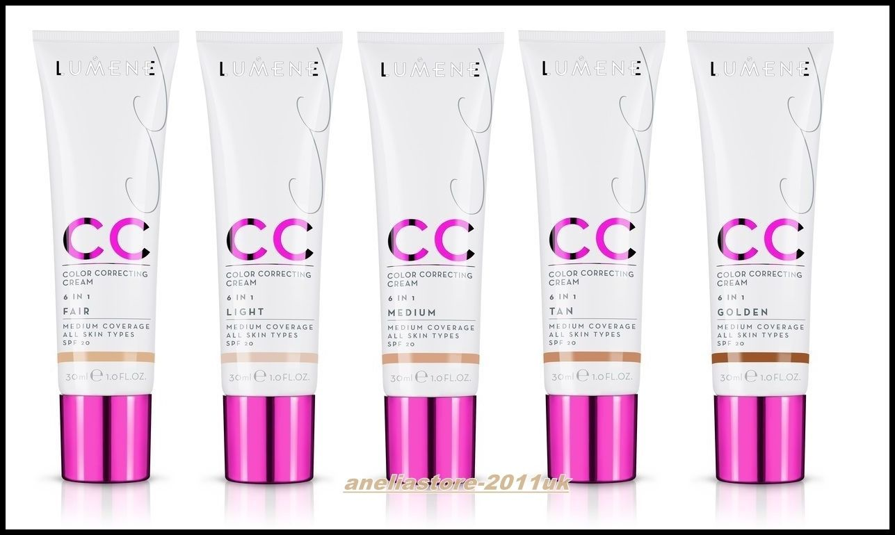 17bd949b284 Lumene Cc Color Correcting Cream 6 In 1 Spf 20 - Light / Medium /Golden/Tan