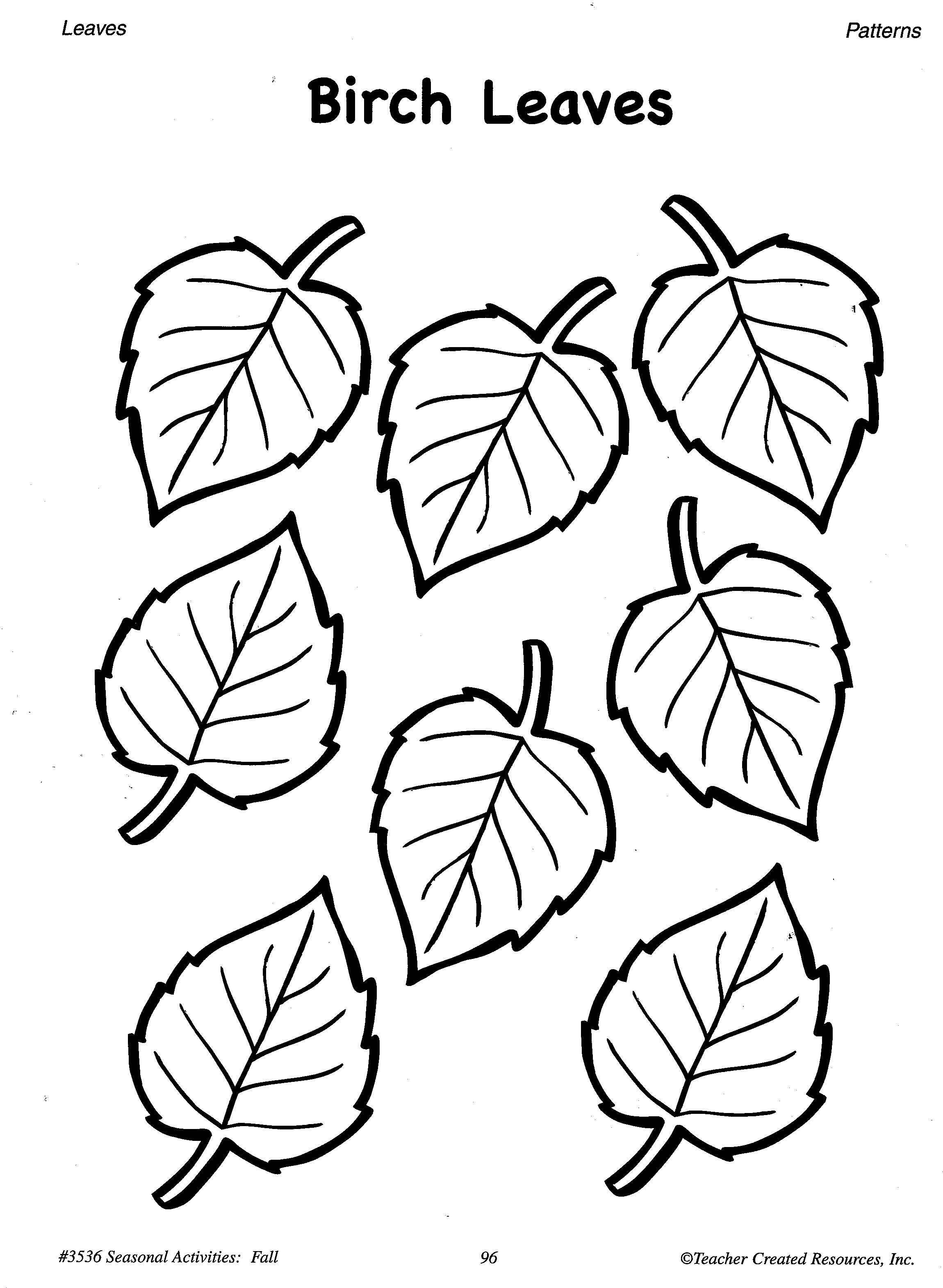 Printable Fall Leaves Patterns A Sample From The Teacher Resource