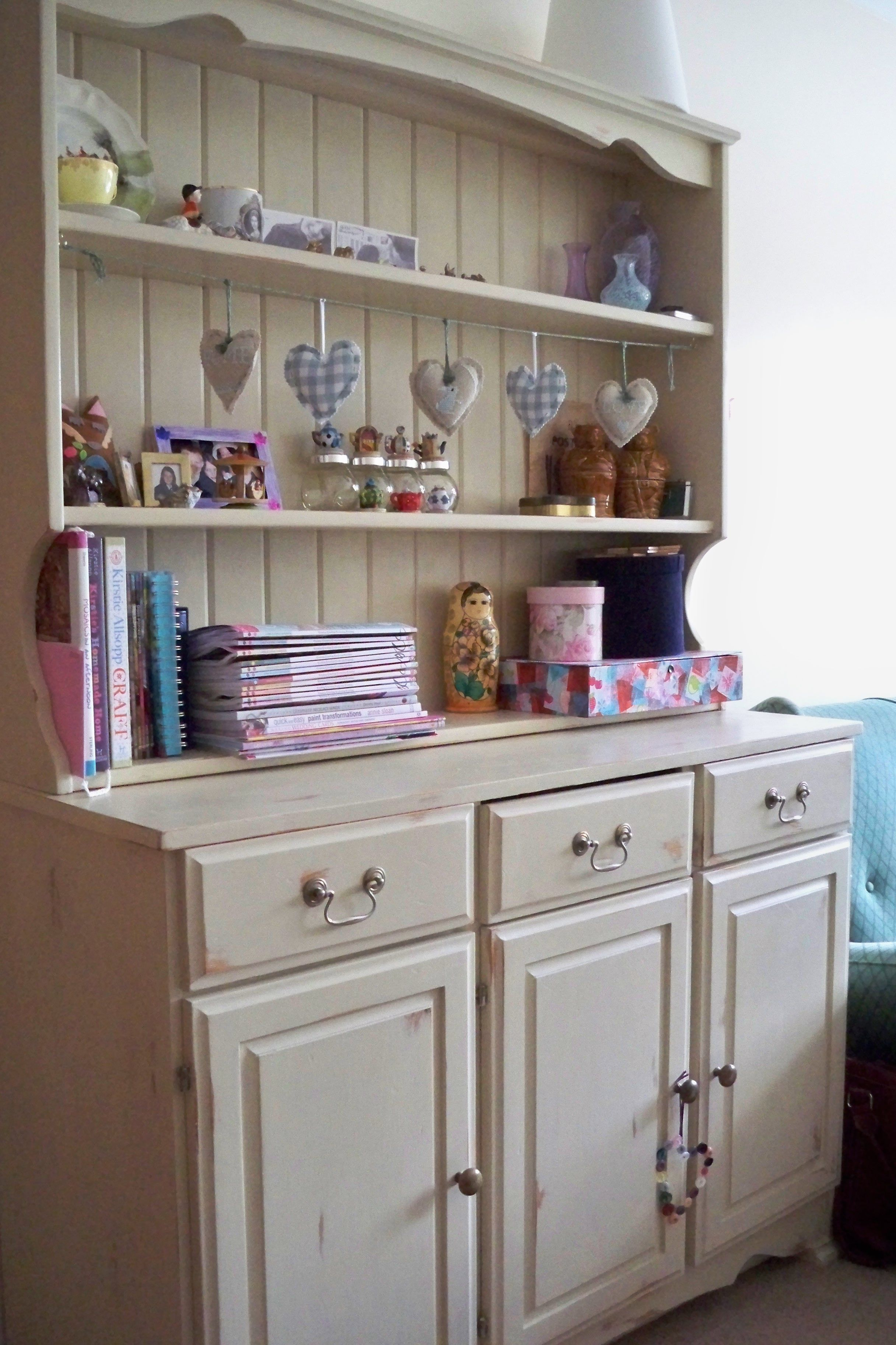 A Donated Pine Dresser Shabby Chic D By Me Using Annie Sloan Chalk Paints And Clear Wax I Love How It Turned Out Looks Perfect In My Craft Room